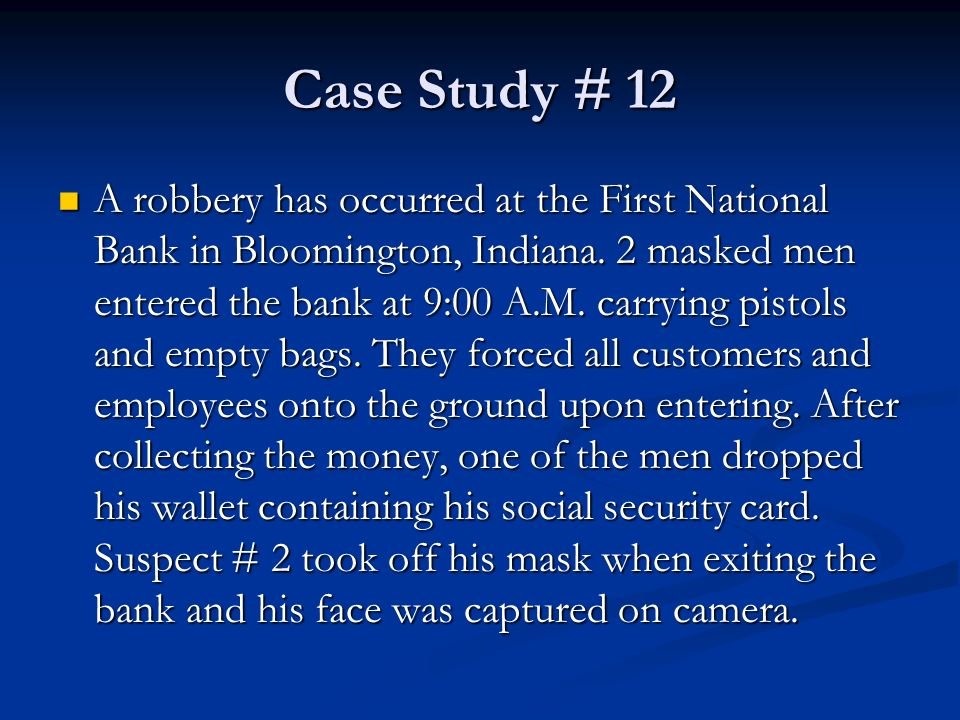 first internet bank of indiana case study An online banking pioneer, first internet bank offers online banking with  by  the indianapolis star for two years in a row and a best place to work in indiana.