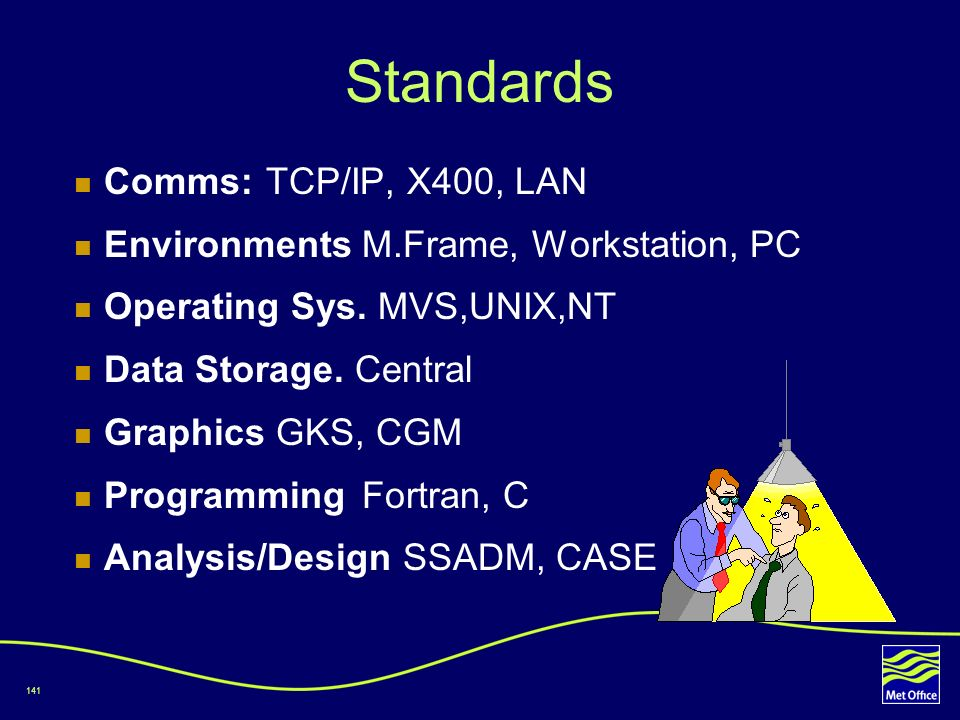 Standards Comms: TCP/IP, X400, LAN