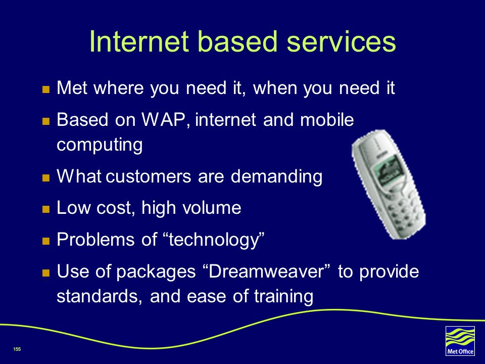 Internet based services