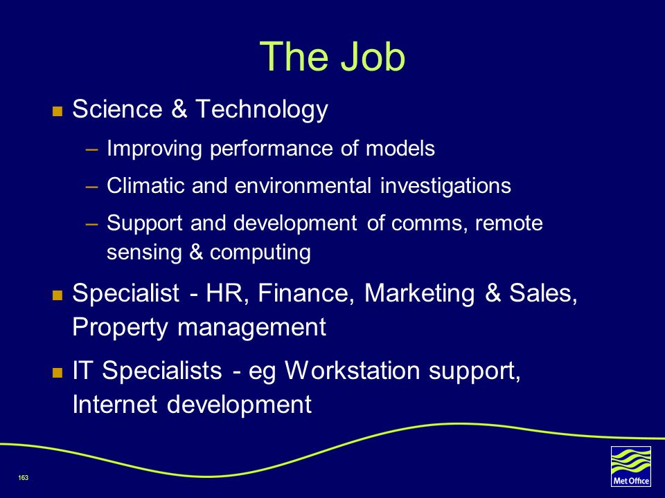 The Job Science & Technology