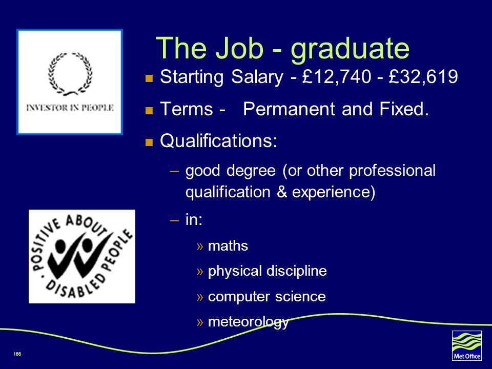 The Job - graduate Starting Salary - £12,740 - £32,619