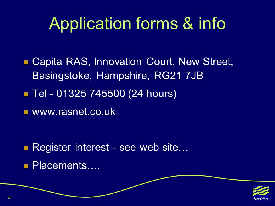 Application forms & info
