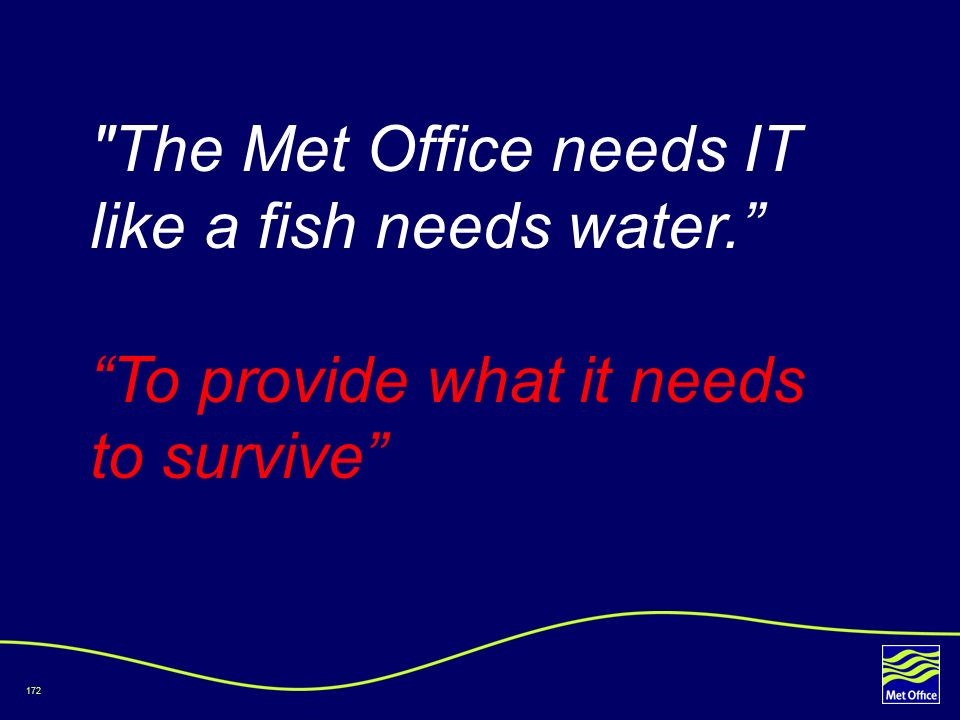 The Met Office needs IT like a fish needs water.