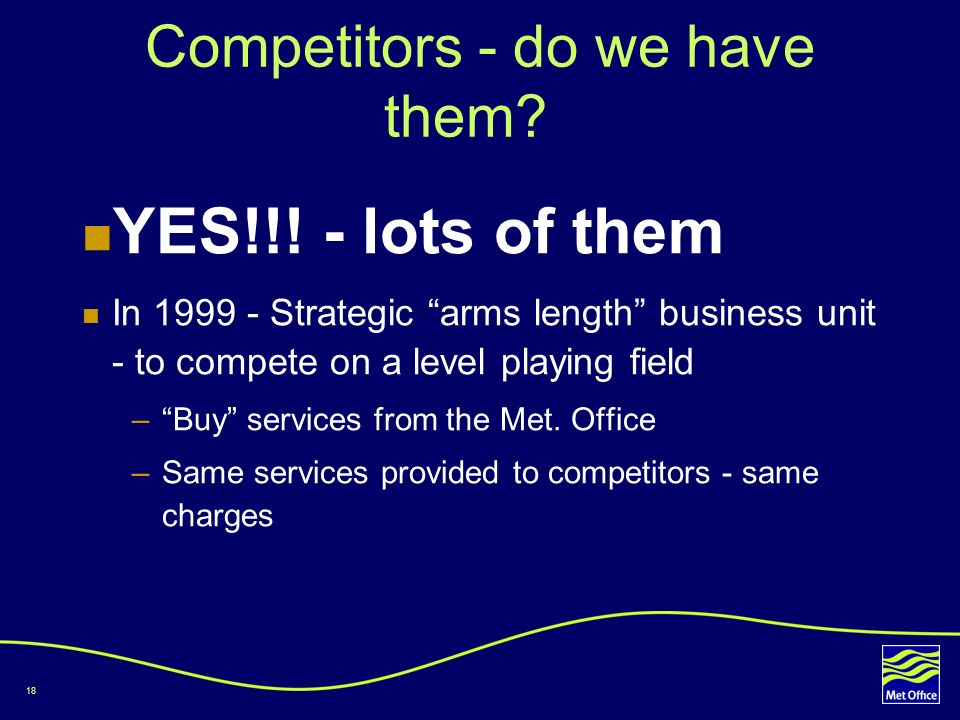 Competitors - do we have them