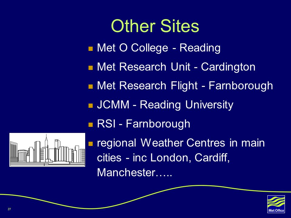 Other Sites Met O College - Reading Met Research Unit - Cardington