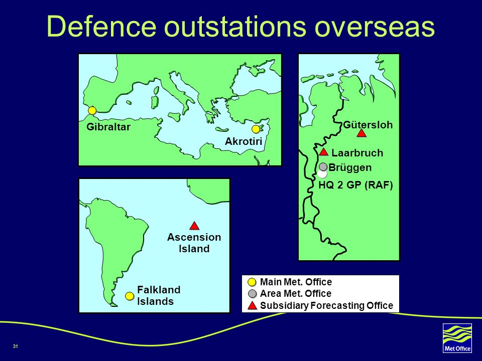 Defence outstations overseas