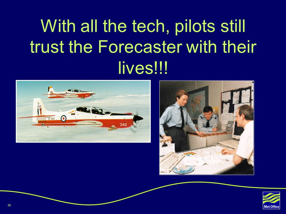 With all the tech, pilots still trust the Forecaster with their lives!!!