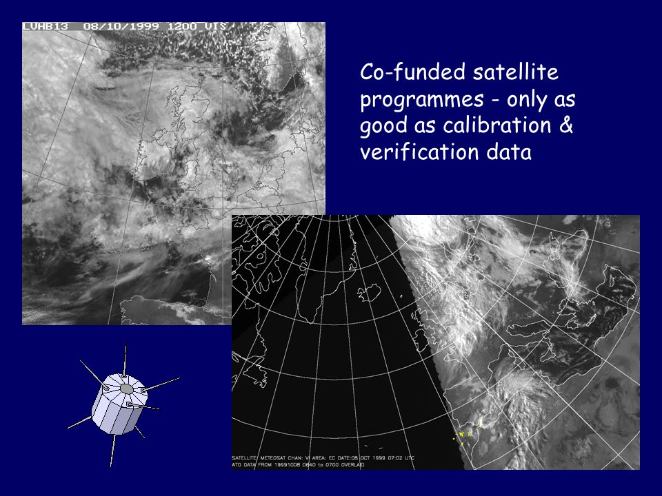 Co-funded satellite programmes - only as good as calibration & verification data