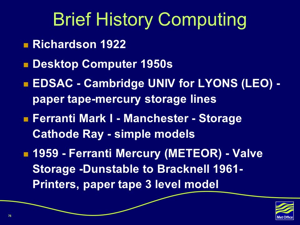 Brief History Computing