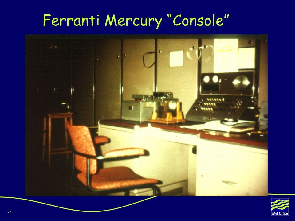 Ferranti Mercury Console