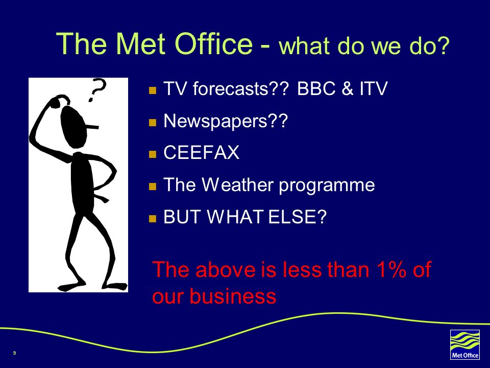 The Met Office - what do we do