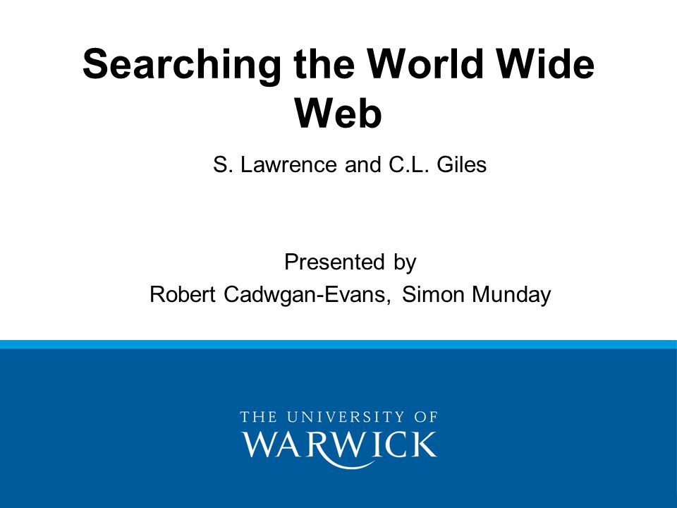 Searching the World Wide Web