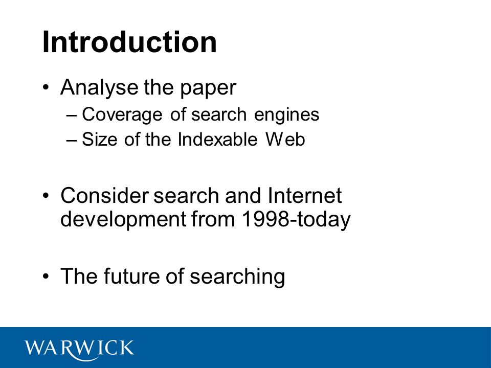 Introduction Analyse the paper
