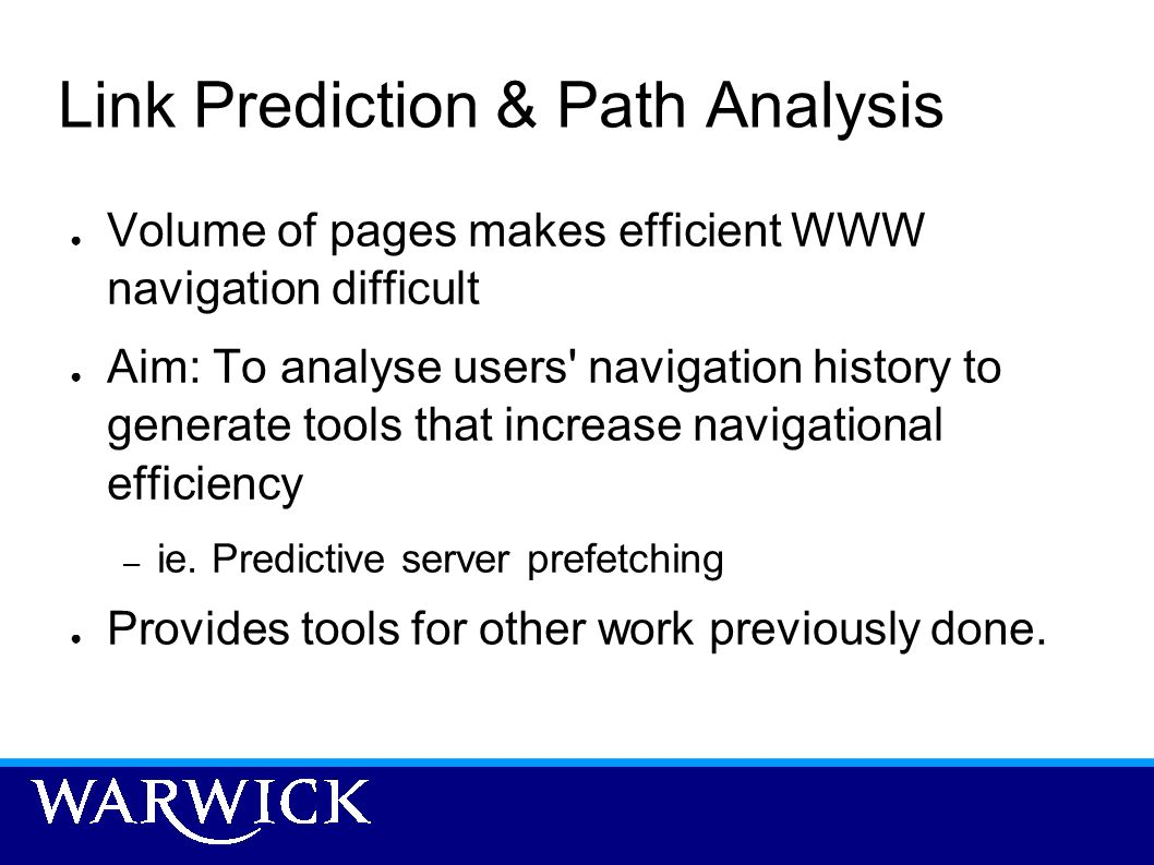 Link Prediction & Path Analysis