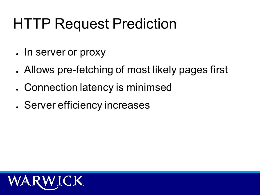 HTTP Request Prediction