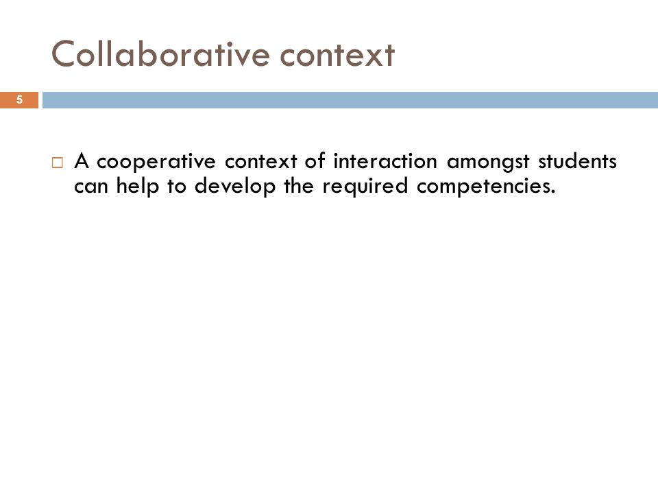 Collaborative context