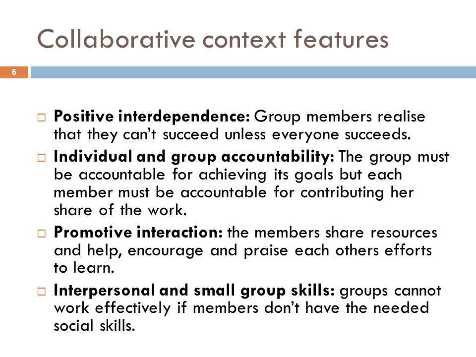 Collaborative context features