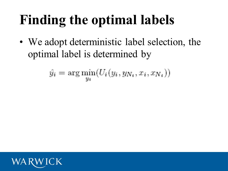 Finding the optimal labels
