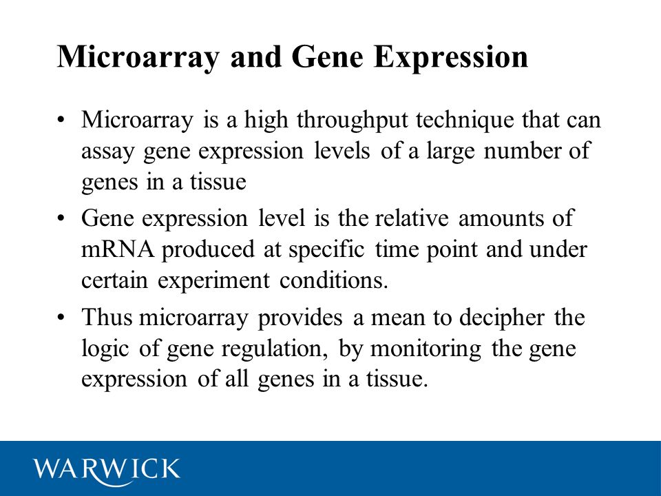 Microarray and Gene Expression
