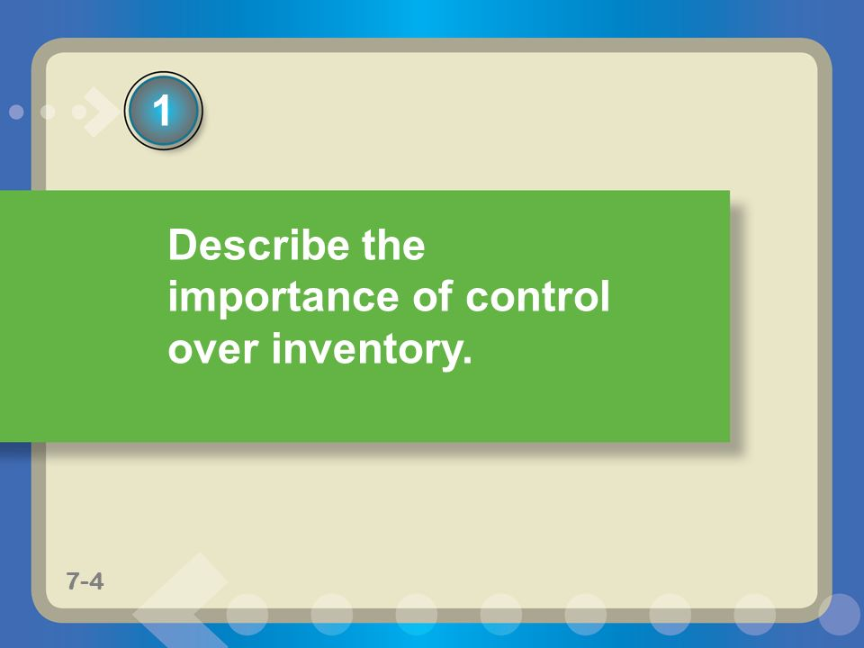 the importance of inventory control Learn the three key benefits to integrating your inventory management software with your accounting and  what's important in the integration inventory and .