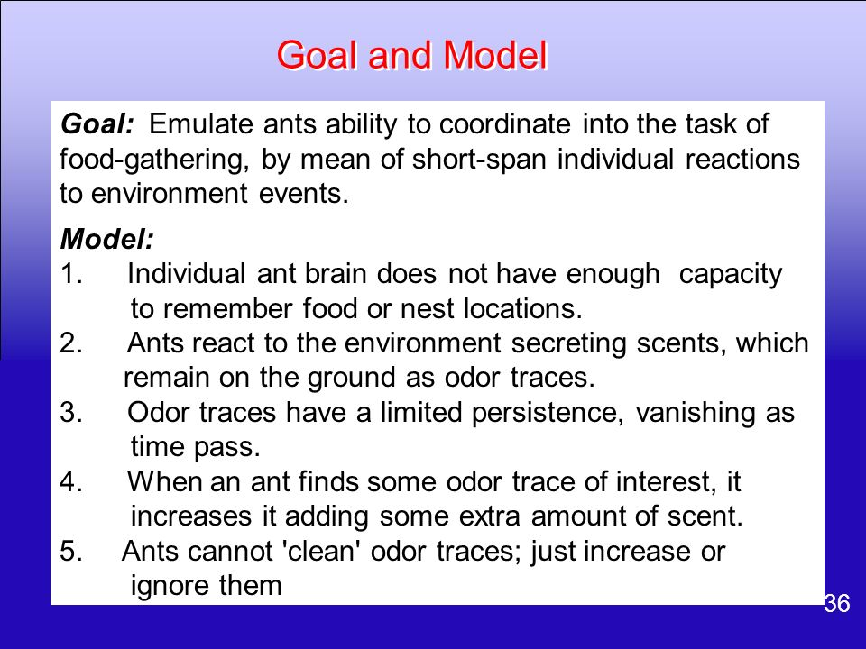 Goal and Model
