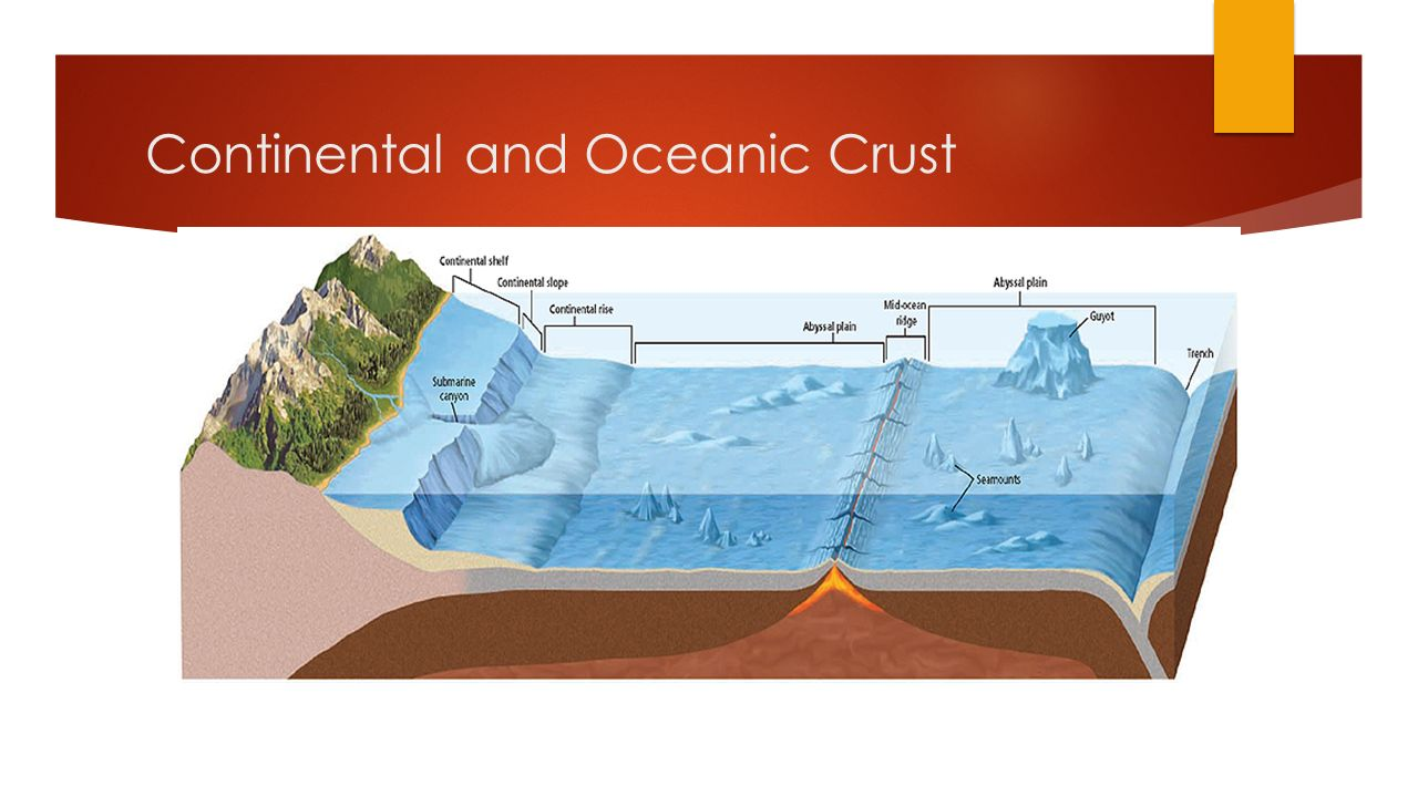 Continental and Oceanic Crust