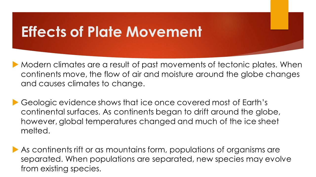 Effects of Plate Movement
