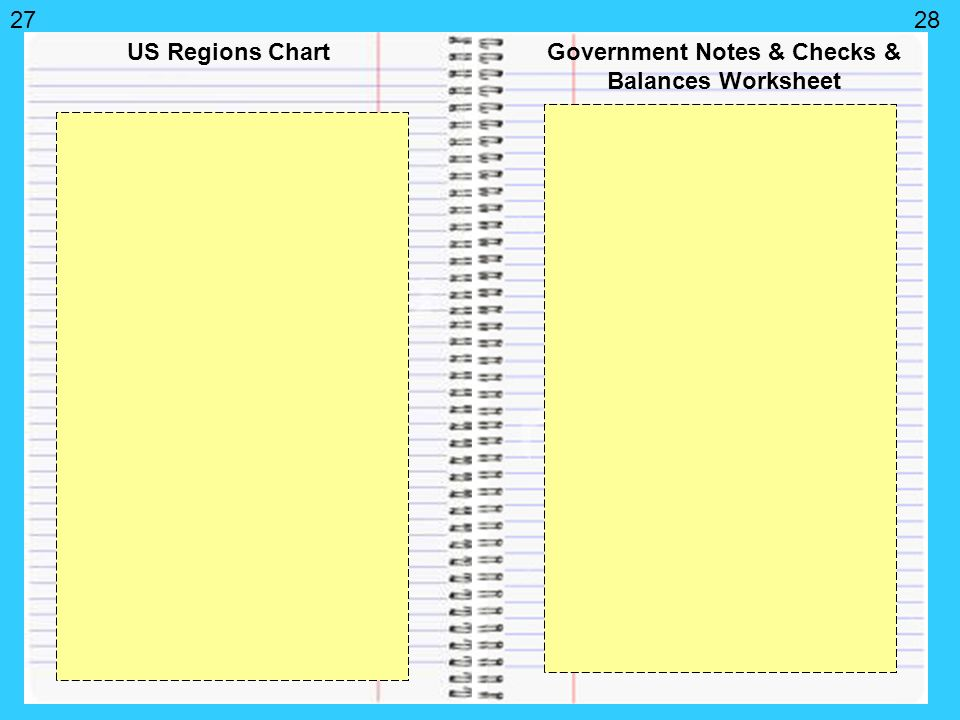 Front cover of Interactive Notebook Write Your name Ms Elmore – Checks and Balances Worksheet