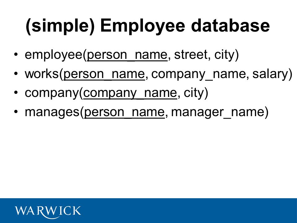 (simple) Employee database