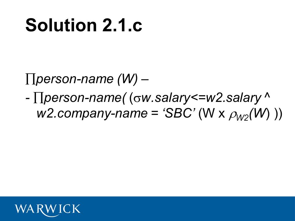 Solution 2.1.c person-name (W) –