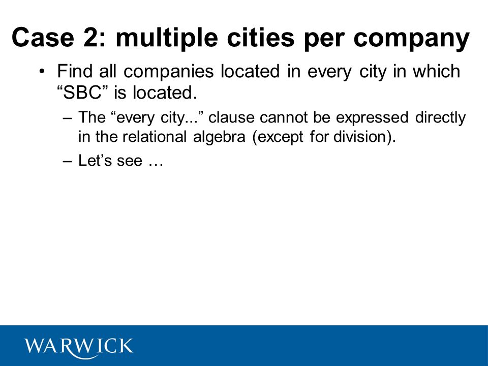Case 2: multiple cities per company