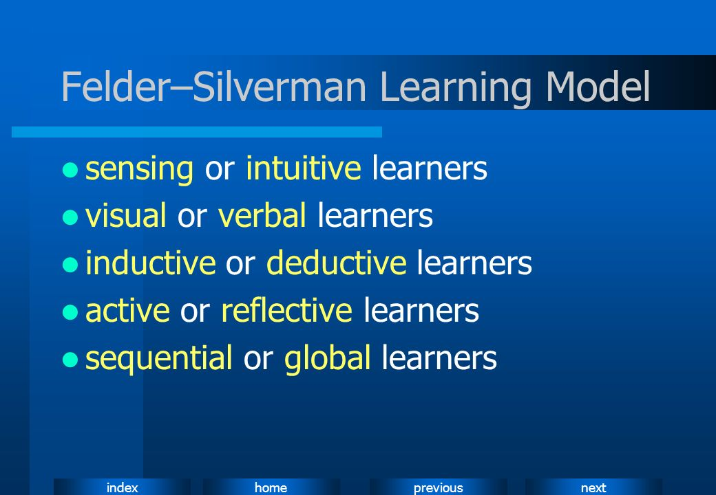 Felder–Silverman Learning Model