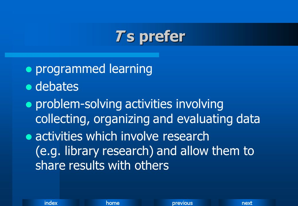 T s prefer programmed learning debates