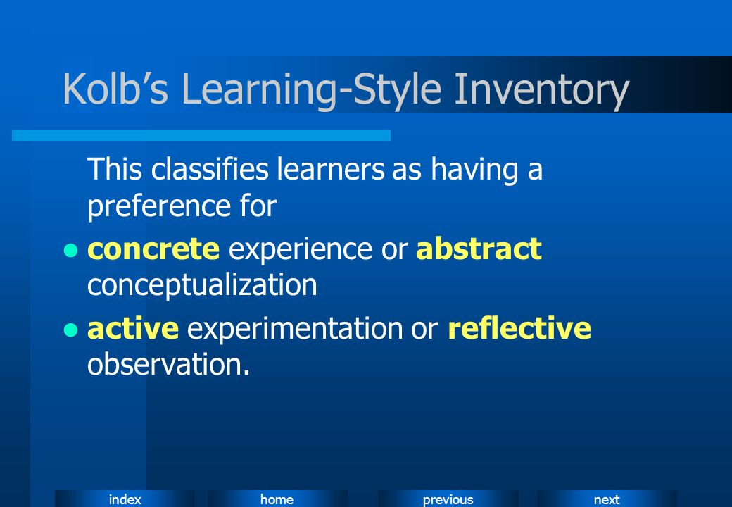 Kolb's Learning-Style Inventory
