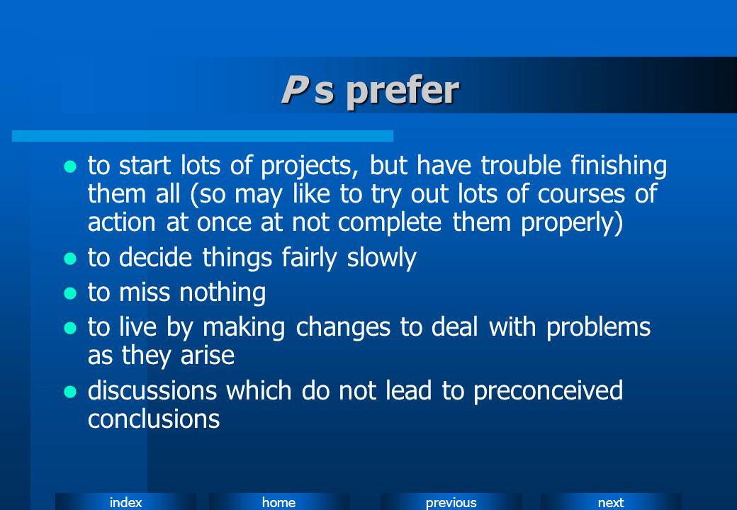 P s prefer