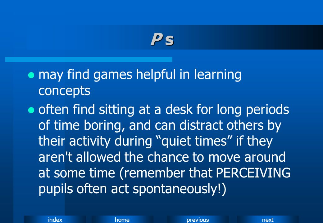 P s may find games helpful in learning concepts