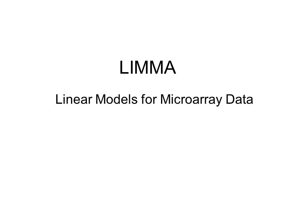 Linear Models for Microarray Data