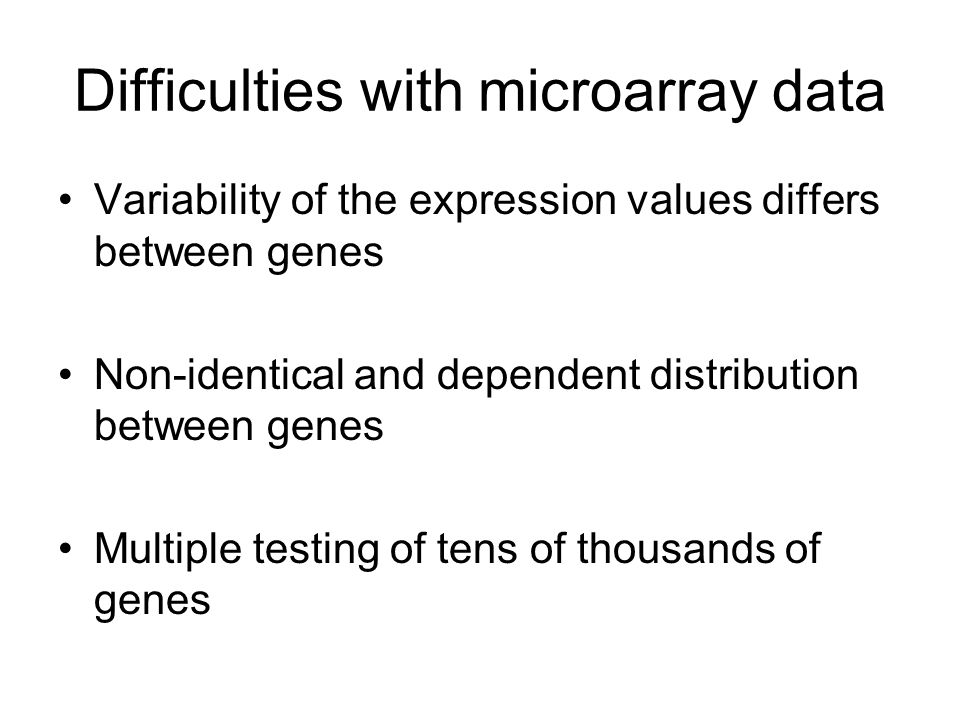 Difficulties with microarray data