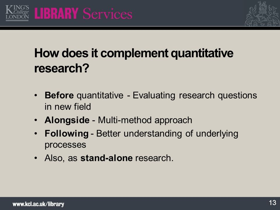 How does it complement quantitative research