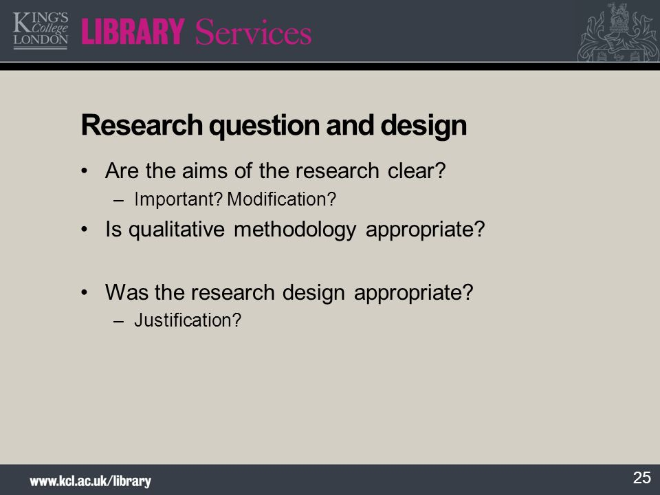 Research question and design