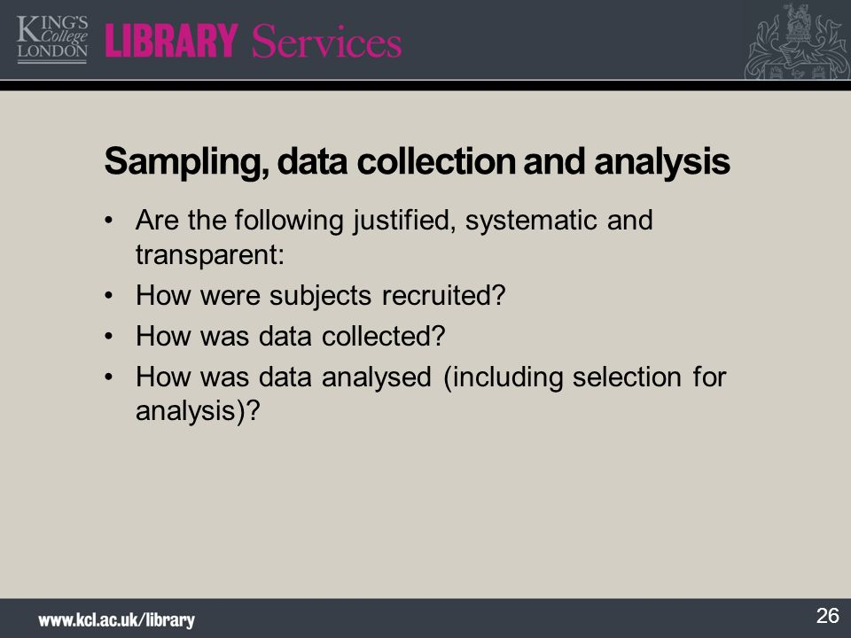 Sampling, data collection and analysis