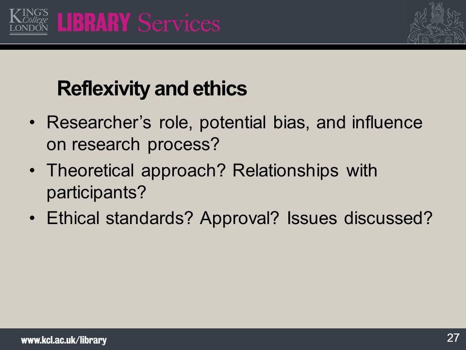 Reflexivity and ethics
