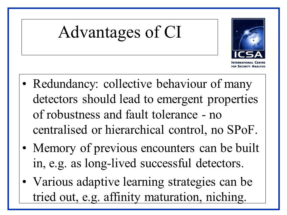 Advantages of CI
