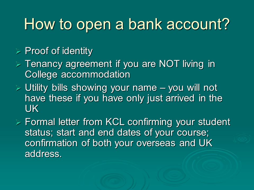 How to open a bank account