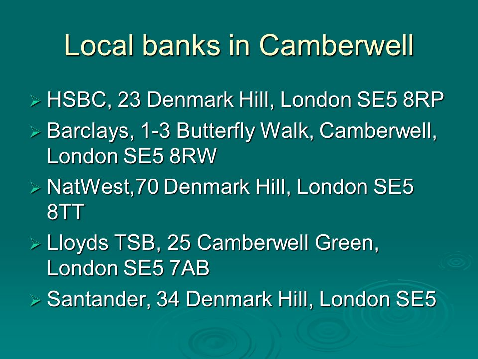 Local banks in Camberwell