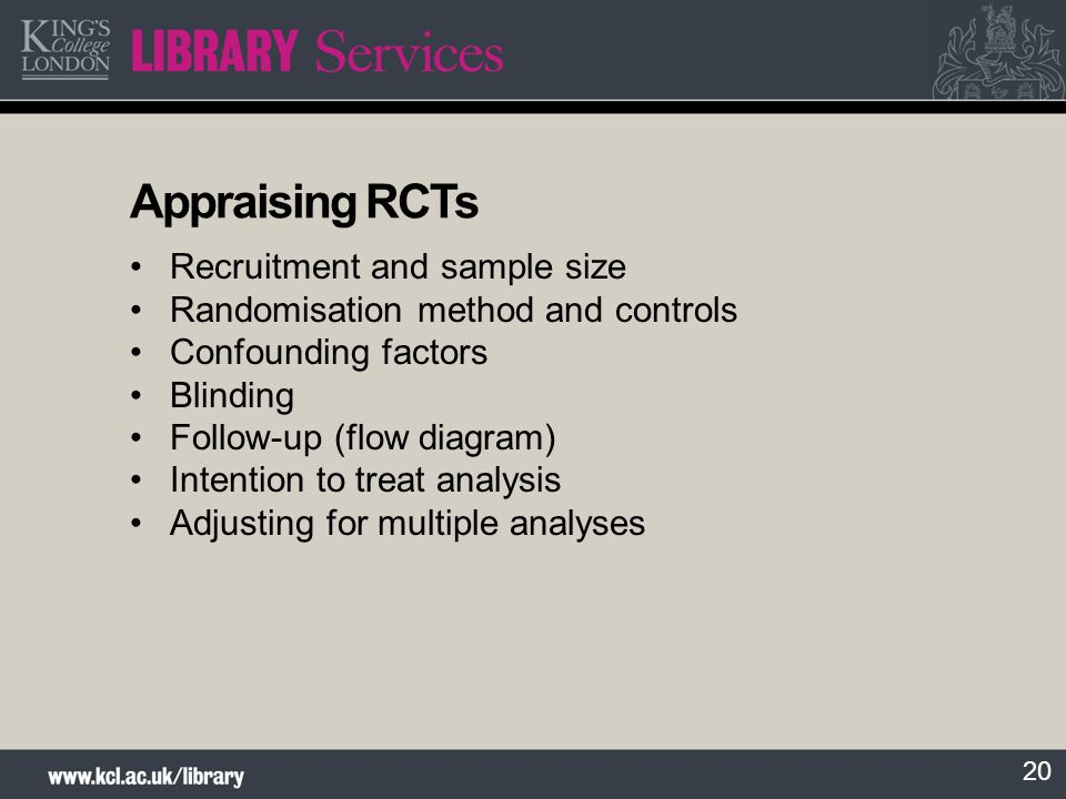 Appraising RCTs Recruitment and sample size