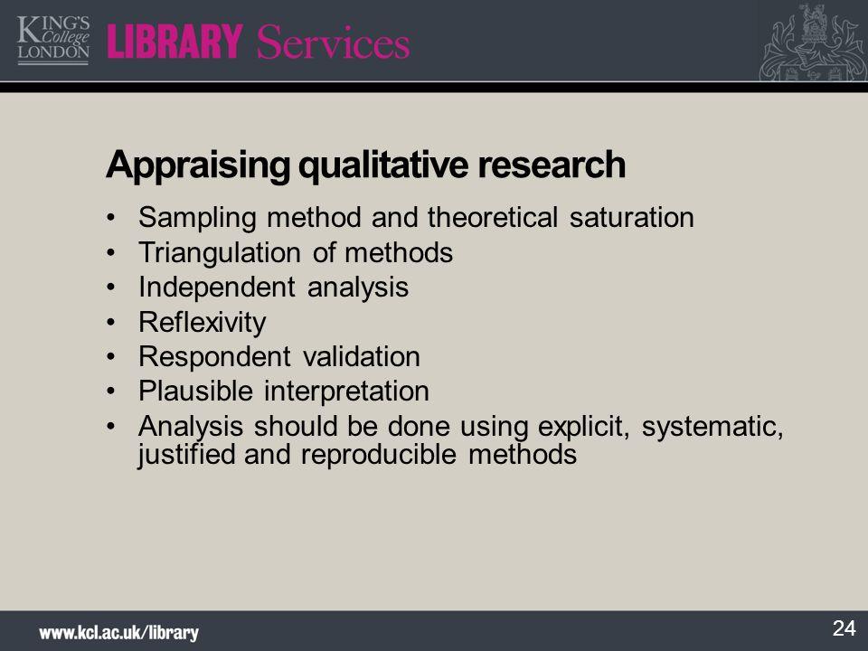 Appraising qualitative research