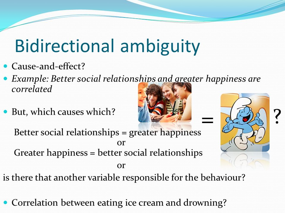 cause and effect relationship examples psychology