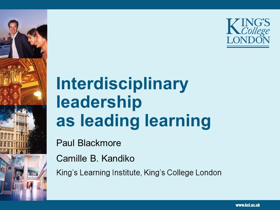 Interdisciplinary leadership as leading learning
