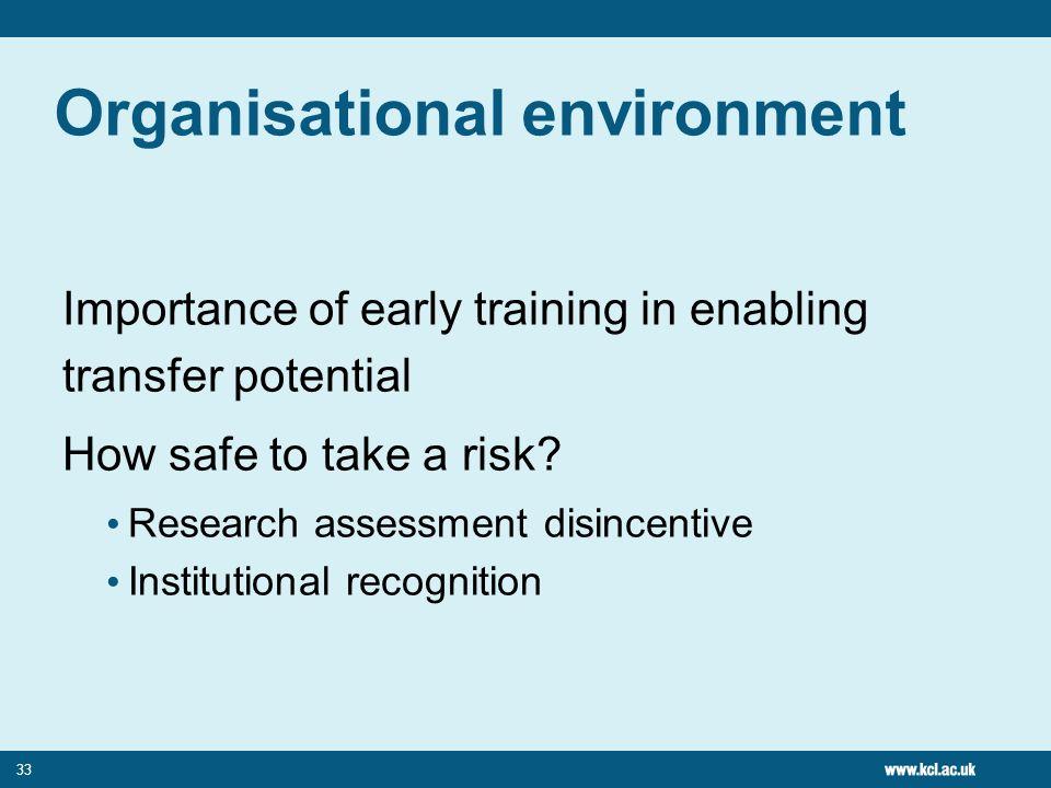 Organisational environment